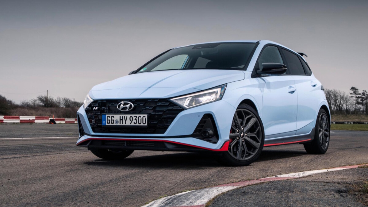 The Hyundai i20N Angled Front View
