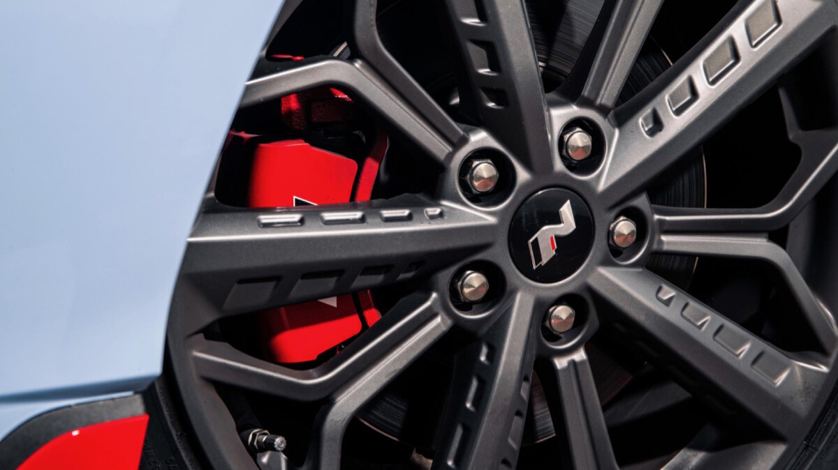 The Hyundai i20N Tire Close Up