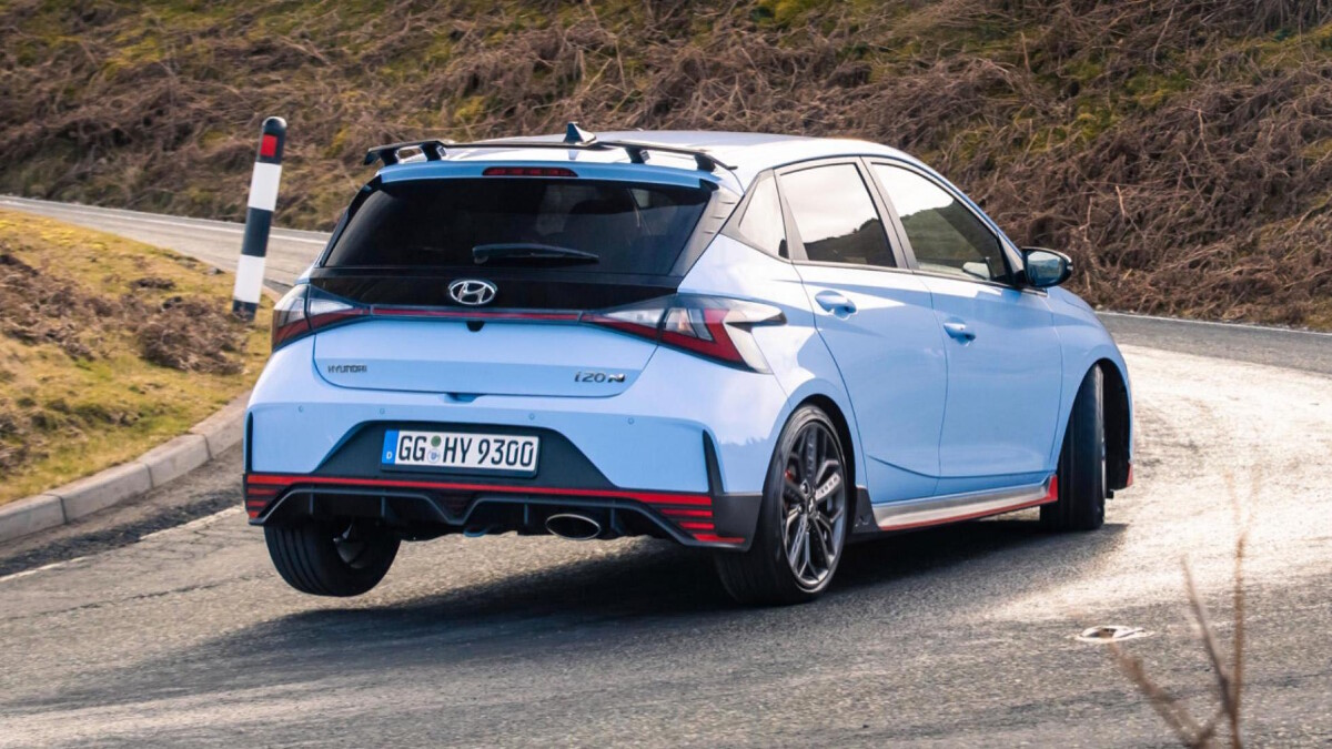The Hyundai i20N Angled Rear View
