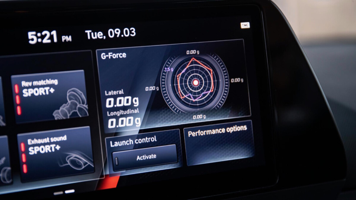 The Hyundai i20N Infotainment