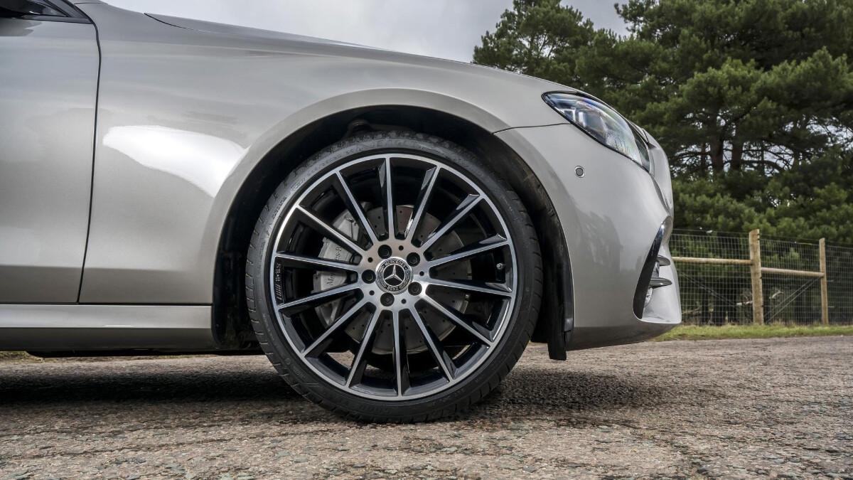 The Mercedes-Benz E220d Front Wheel