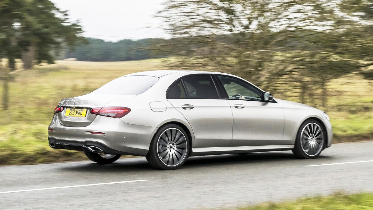 The Mercedes-Benz E220d On The Road