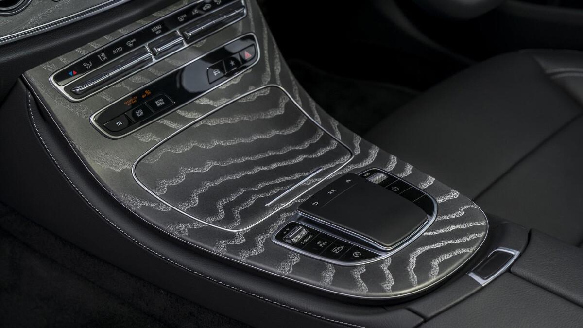 The Mercedes-Benz E220d Center Console