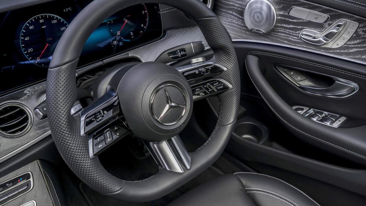 The Mercedes-Benz E220d Steering Wheel