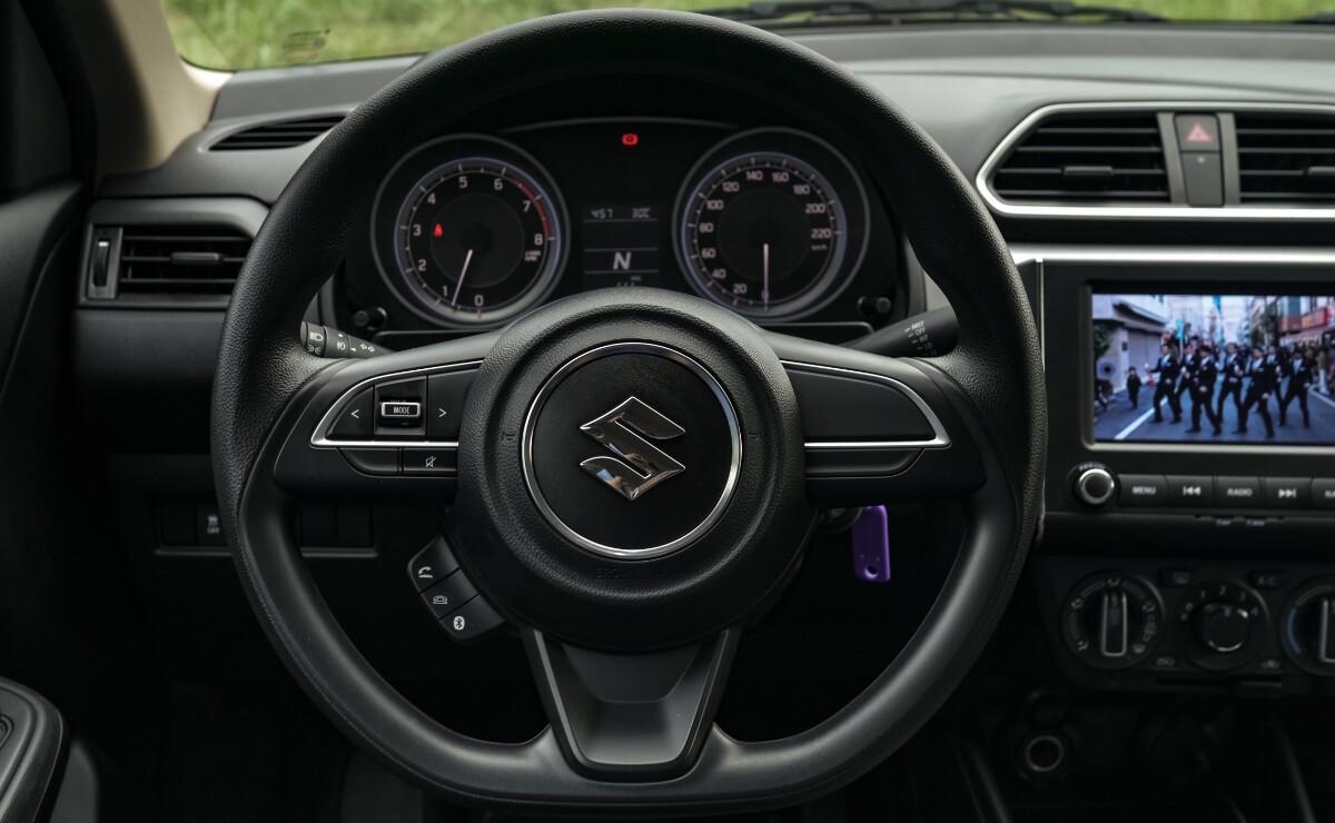 The Suzuki Dzire Steering Wheel
