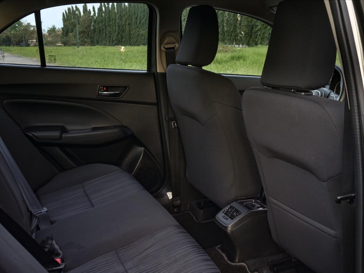 The Suzuki Dzire Rear Passenger Seats