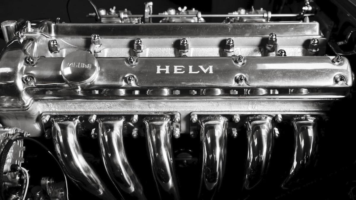 Helm's Jaguar E-Type Restomod Engine Alternative Angle
