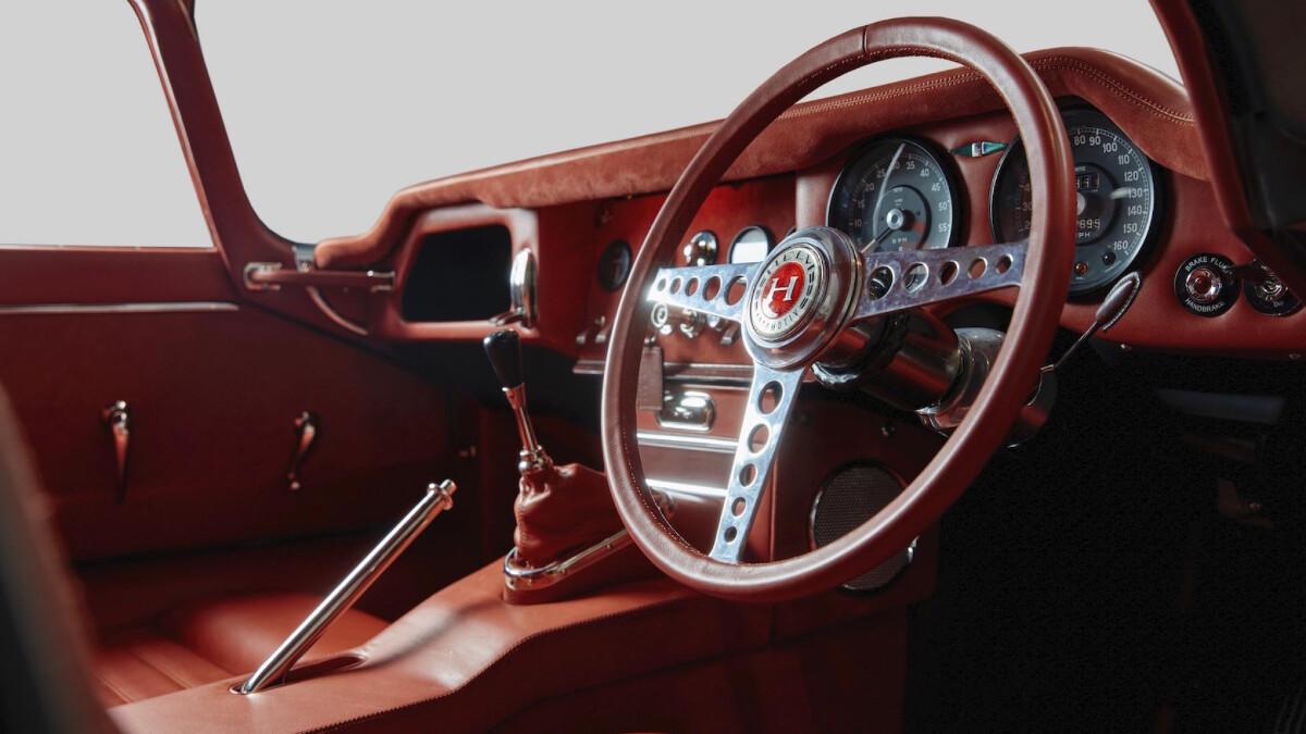 Helm's Jaguar E-Type Restomod Dashboard and Steering Wheel