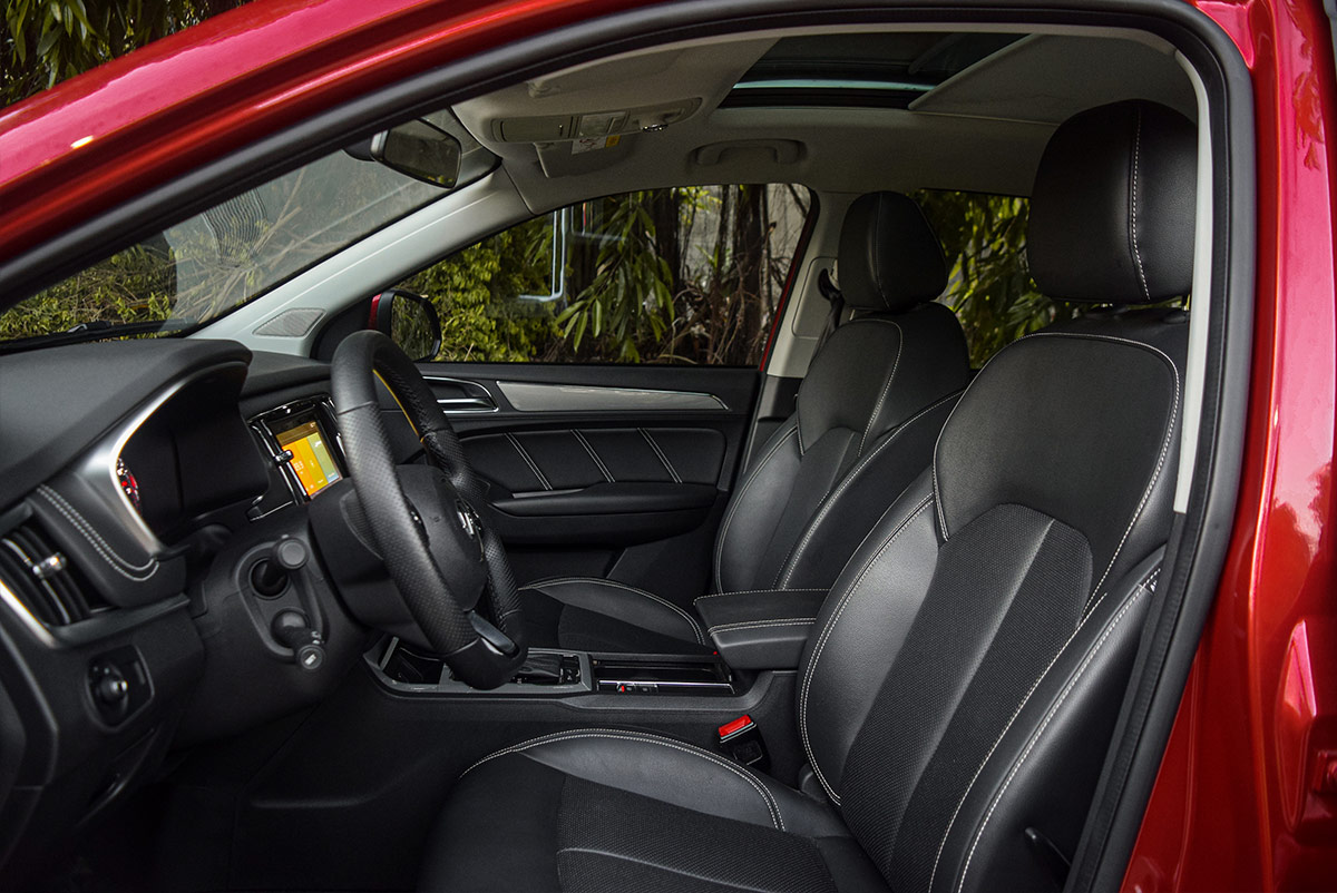 The MG RX5 Front Passenger Seats