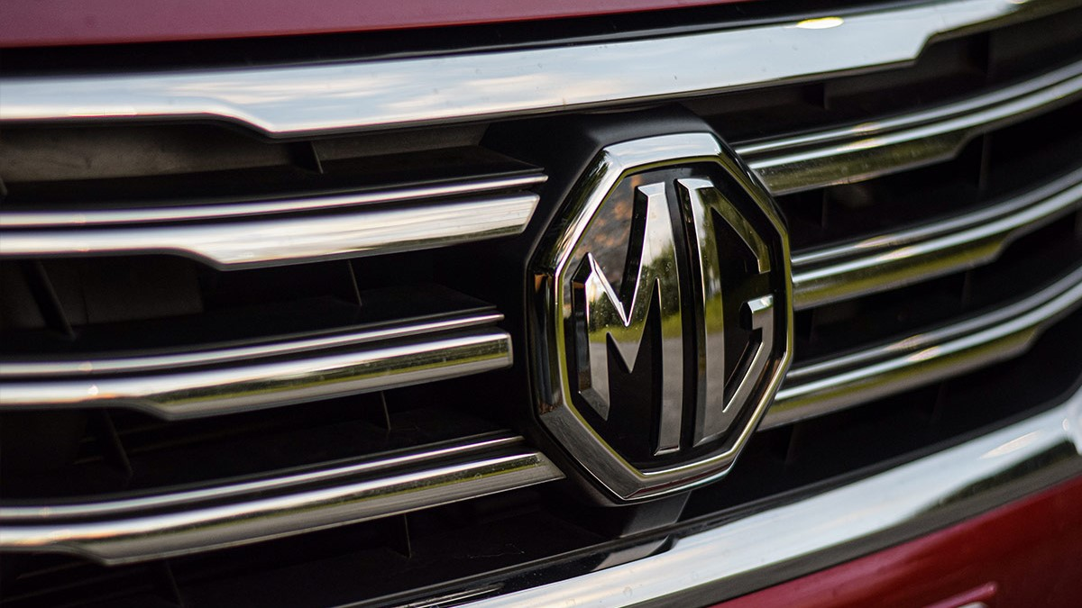 The MG RX5 Front Grille Close-Up