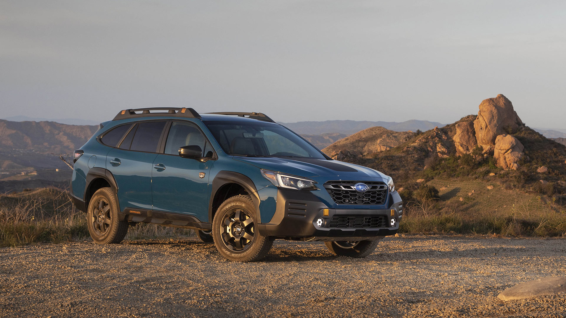 The Subaru Outback Wilderness Parked in the Outdoors