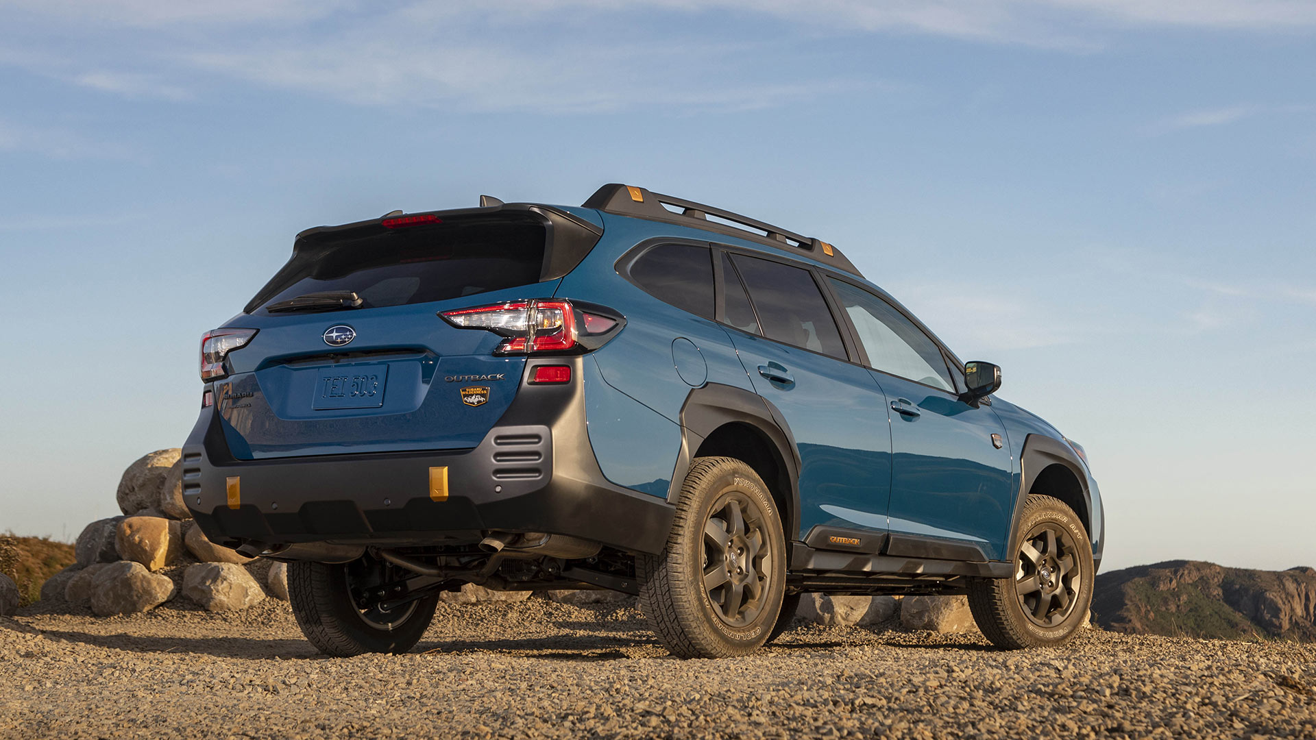 The Subaru Outback Wilderness Angled Rear Vew