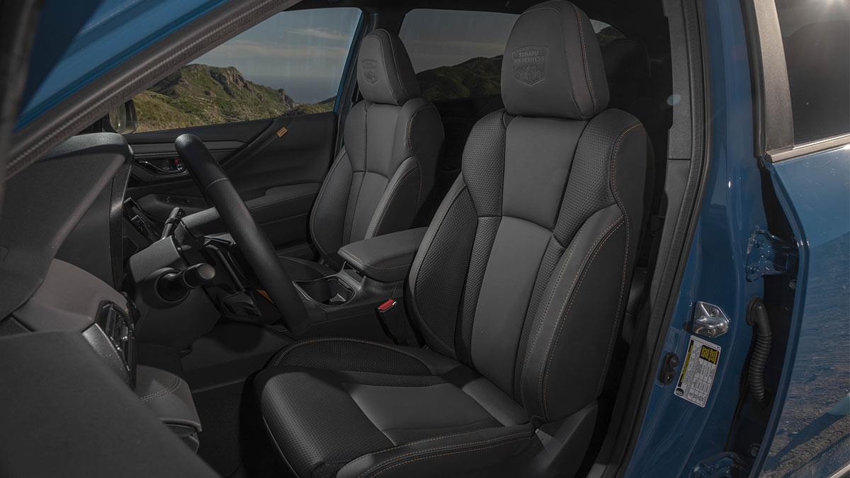 The Subaru Outback Wilderness Front Passenger Seats