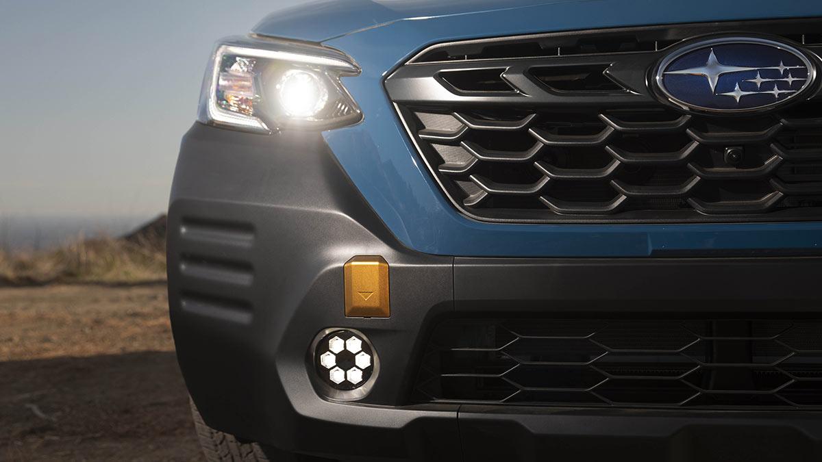 The Subaru Outback Wilderness Headlamp Close-Up