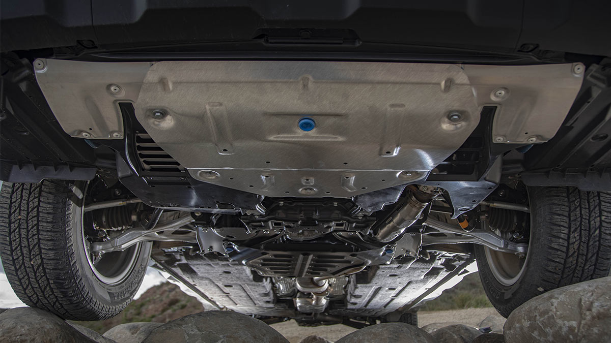 The Subaru Outback Wilderness Underchassis