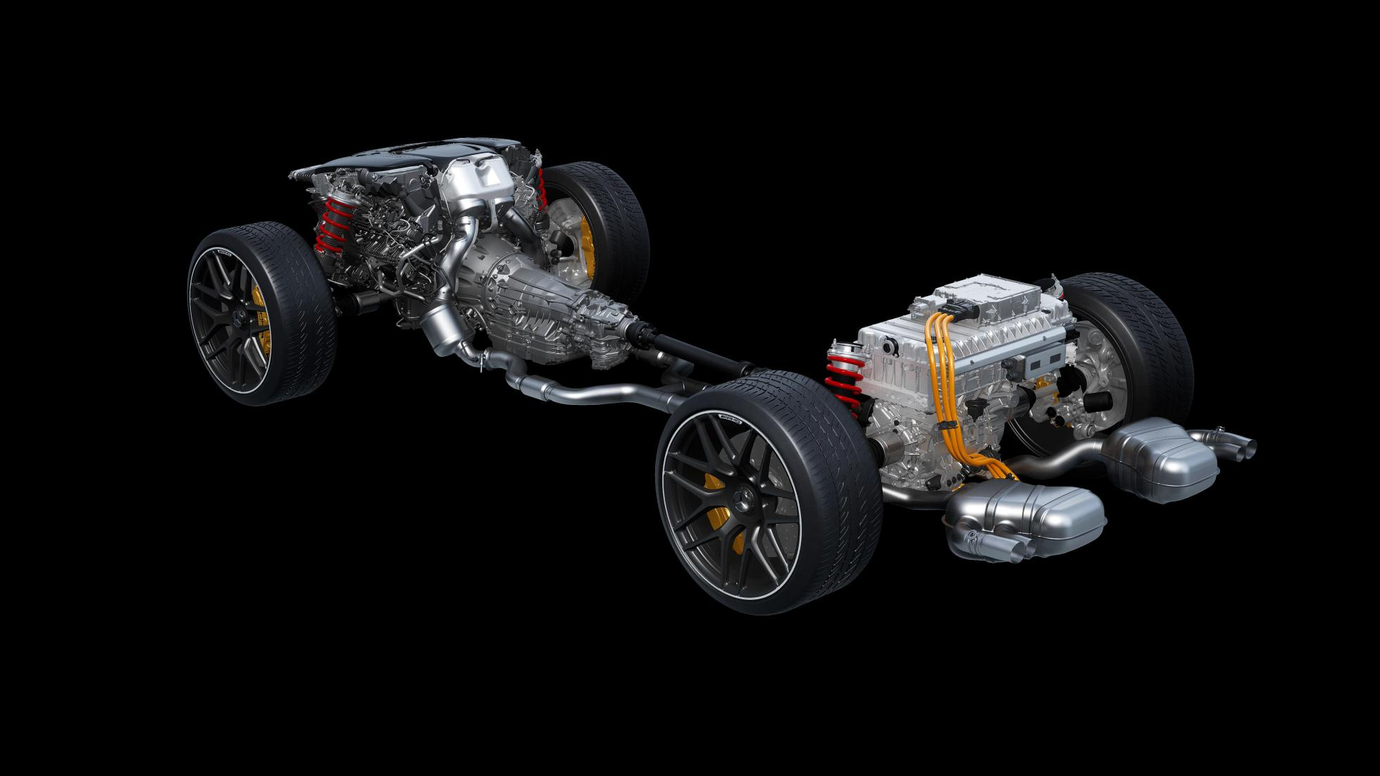 AMG C63 Underchassis and Engine