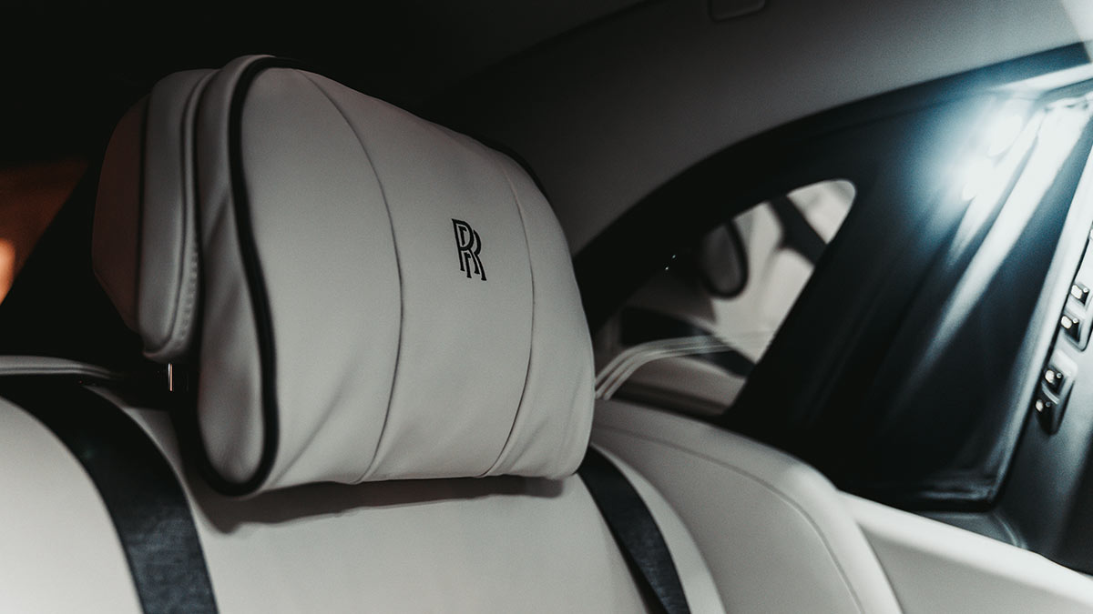 The Rolls-Royce Phantom Passenger Seat Detail
