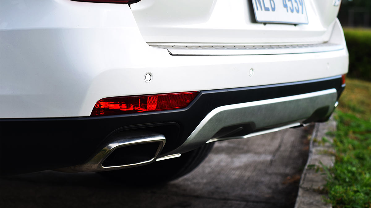 The GAC GS8 Top Angled Rear View