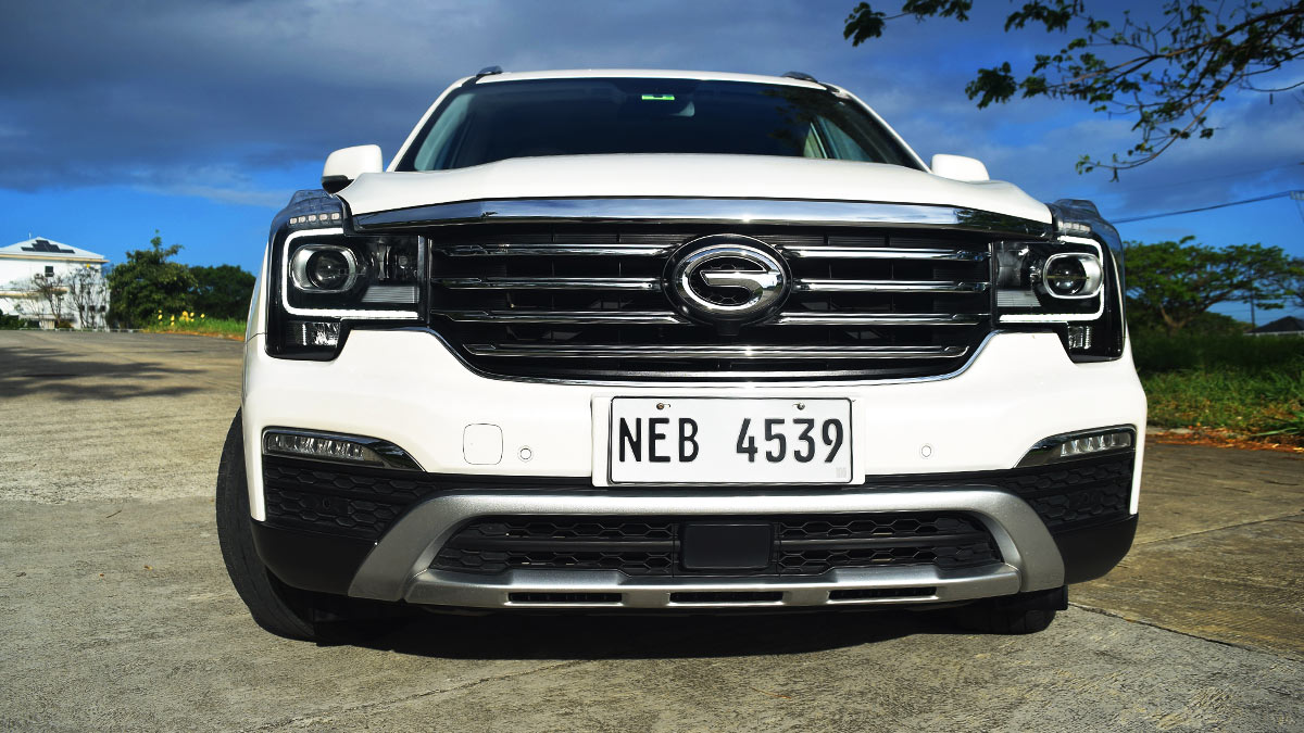 The GAC GS8 Angled Front View