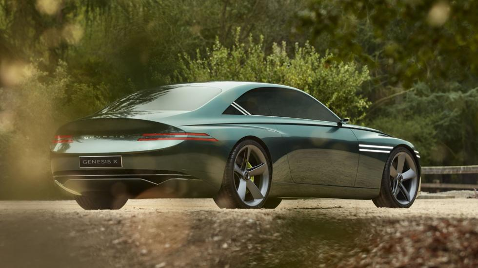 The Genesis X Concept Angled Rear View