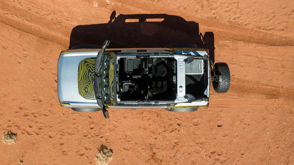 The Ford Bronco Top View