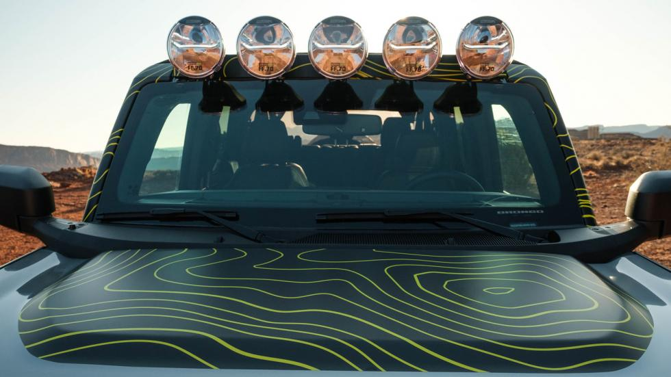 The Ford Bronco Windshield and Offroad Lights
