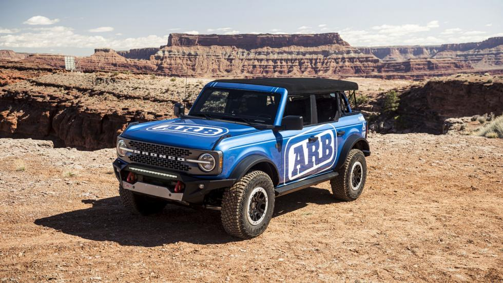 The Ford Bronco in Blue
