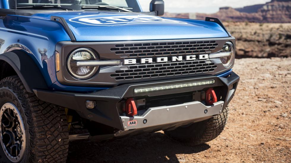 The Ford Bronco Grille Close-Up