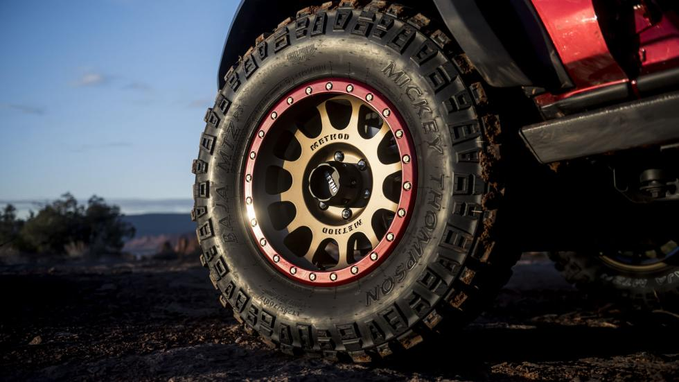 The Ford Bronco Tire Close Up