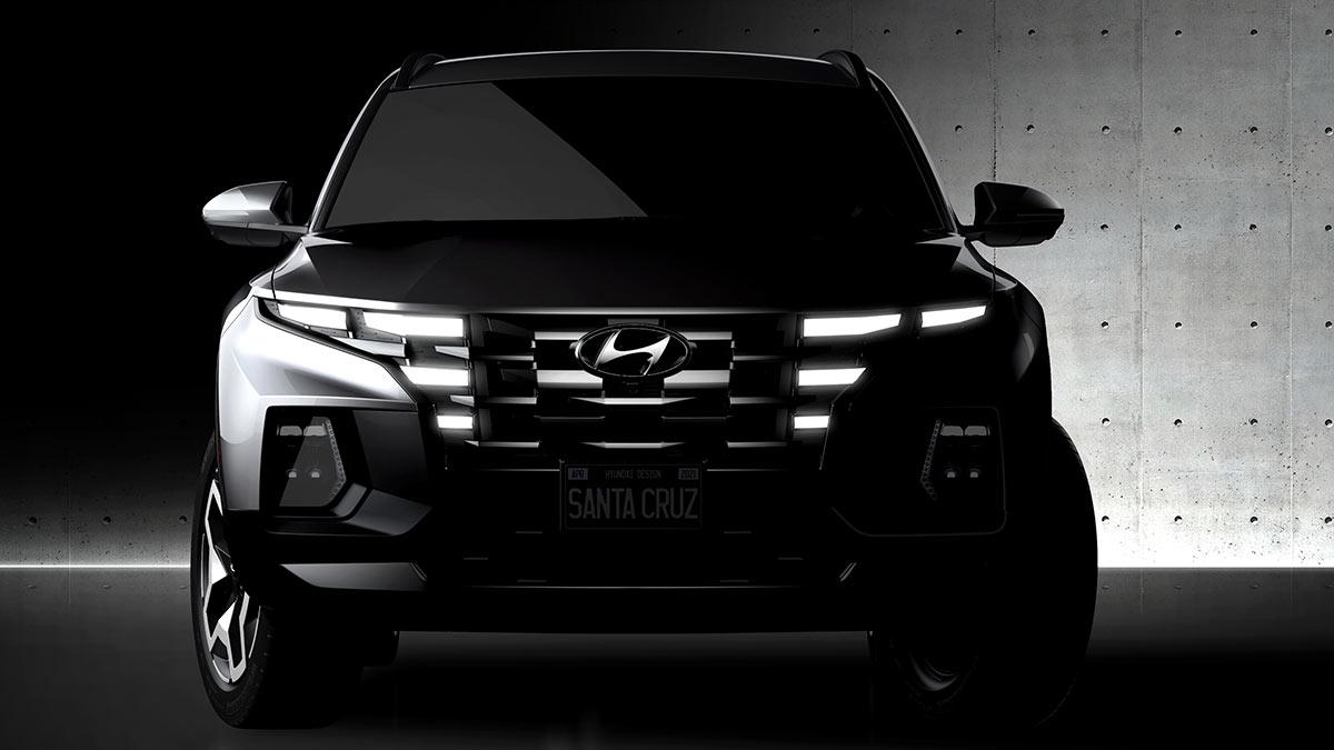 The Hyundai Santa Cruz Front VIew