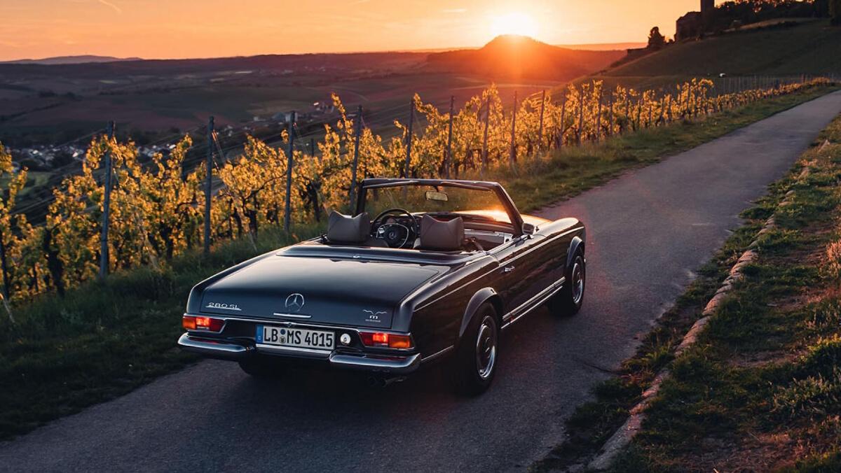 The Mercedes-Benz SL Parked