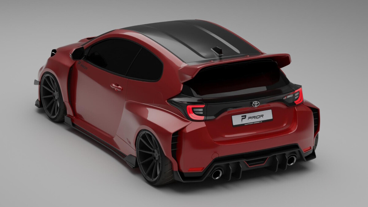 The Prior Design Kit for the Toyota GR Yaris Top Angled  VIew