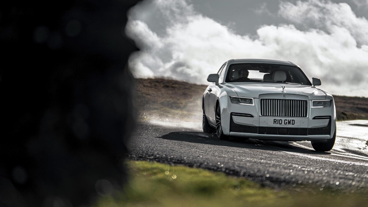 The Rolls-Royce Ghost Front View On the Road