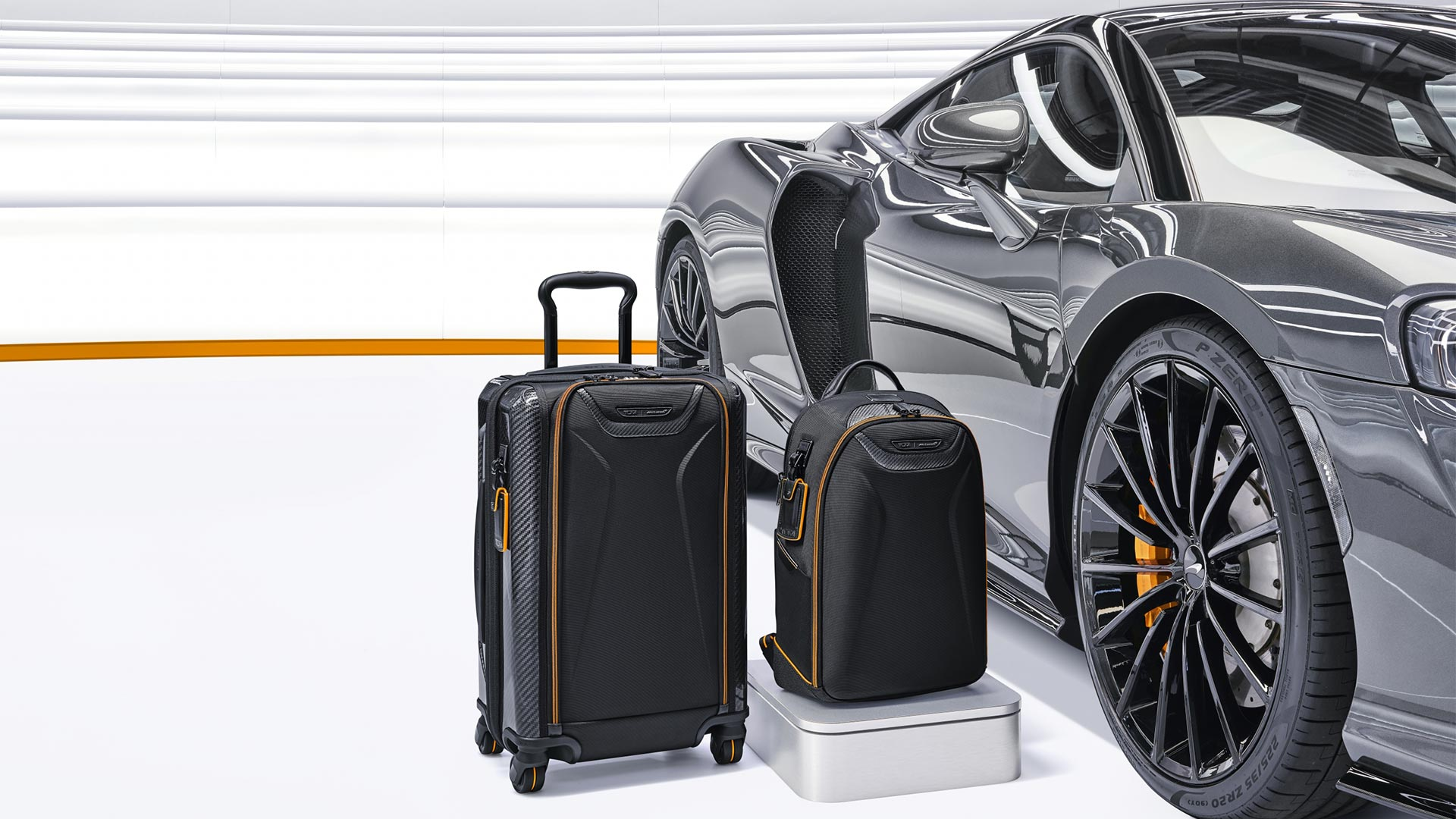 Tumi's McLaren Inspired Capsule Luggage - Backpack and Luggage