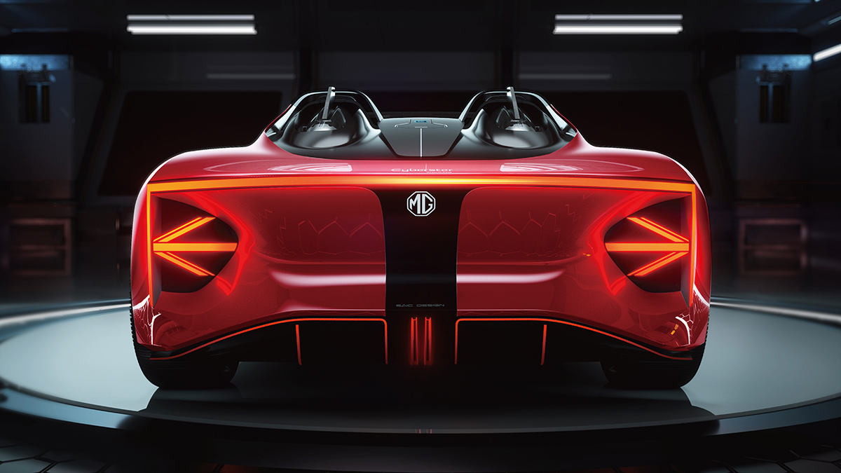 The MG Cyberster Rear View