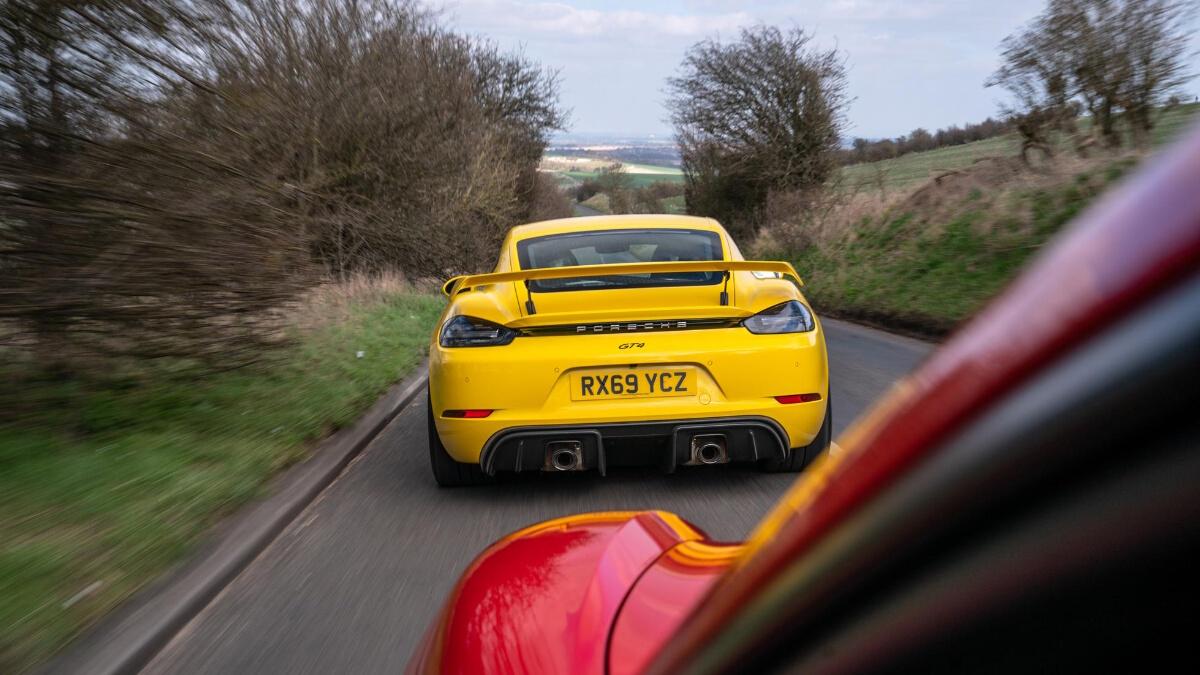 The Porsche 718 Cayman GT4 Rear View