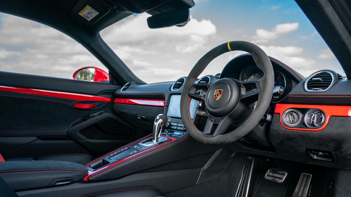 The Porsche 718 Cayman GT4 Steering Wheel