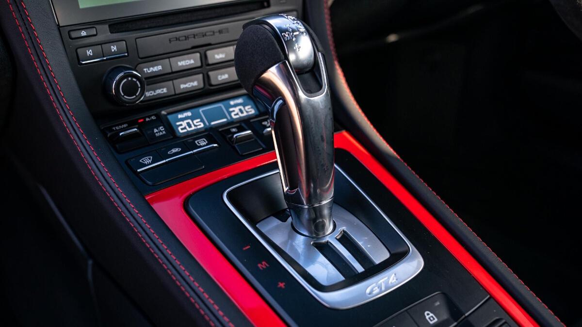 The Porsche 718 Cayman GT4 Gear Stick