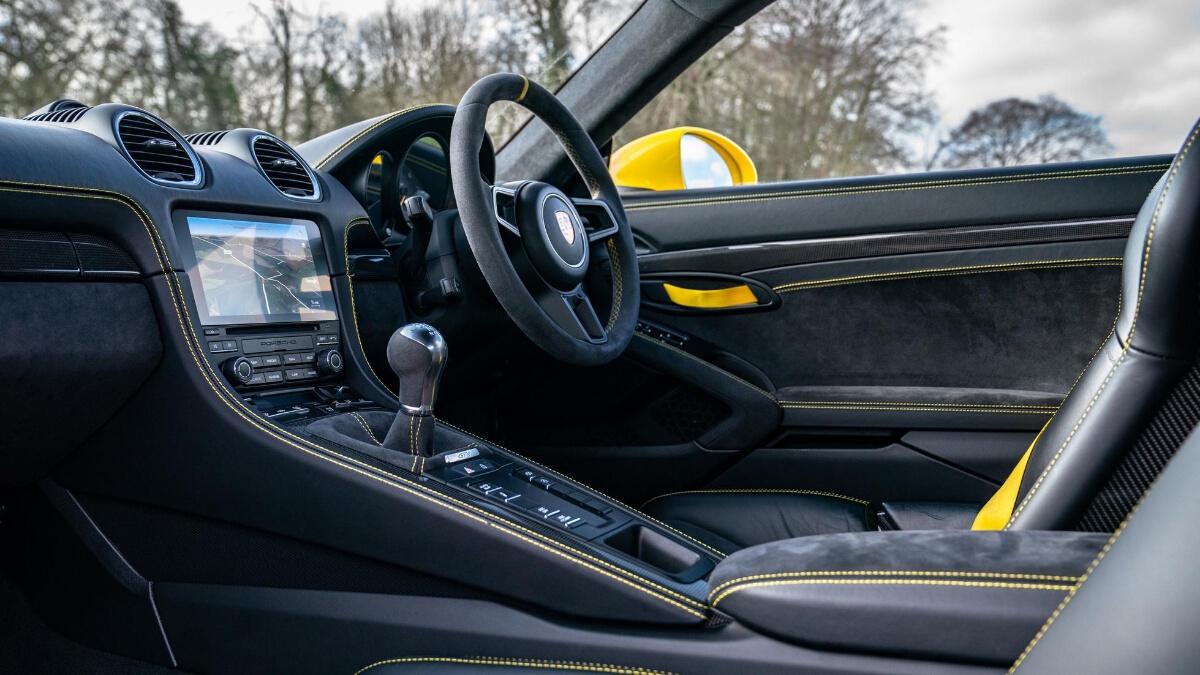 The Porsche 718 Cayman GT4 Manual Front Passenger Seats