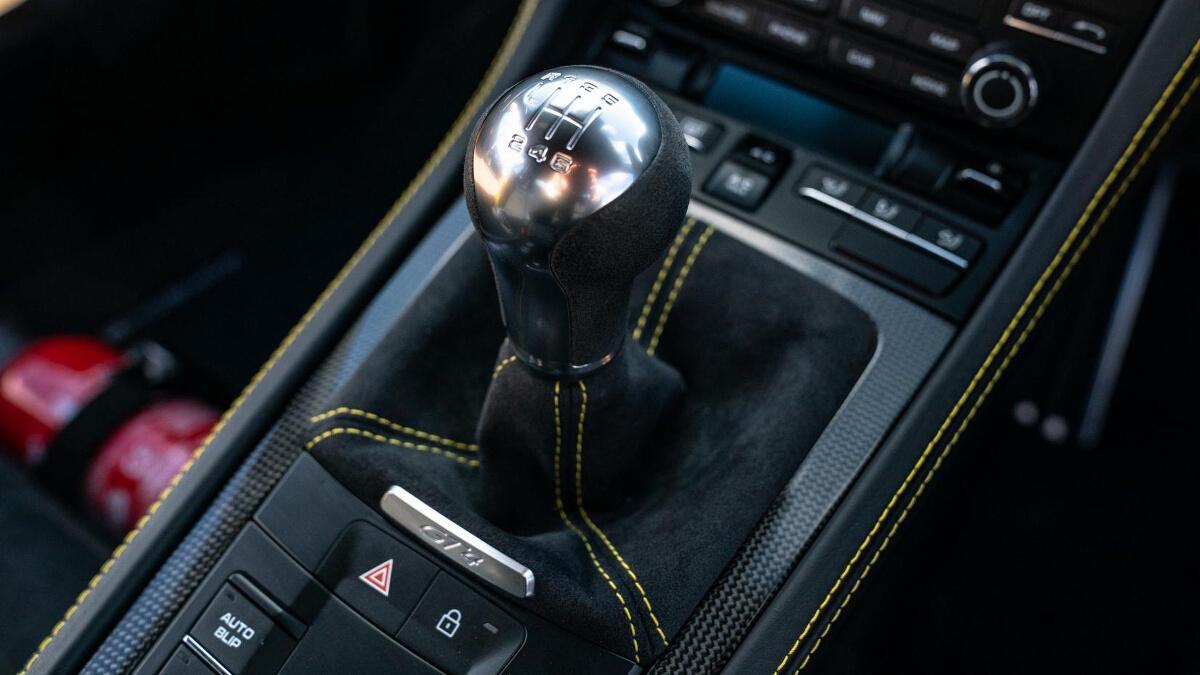The Porsche 718 Cayman GT4 Manual Gear Shift