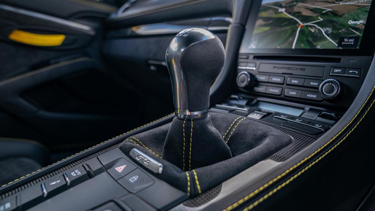 The Porsche 718 Cayman GT4 Manual Gear Stick