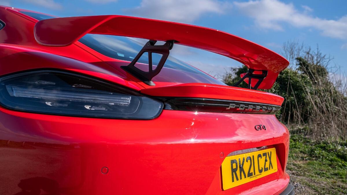 The Porsche 718 Cayman GT4 Spoiler