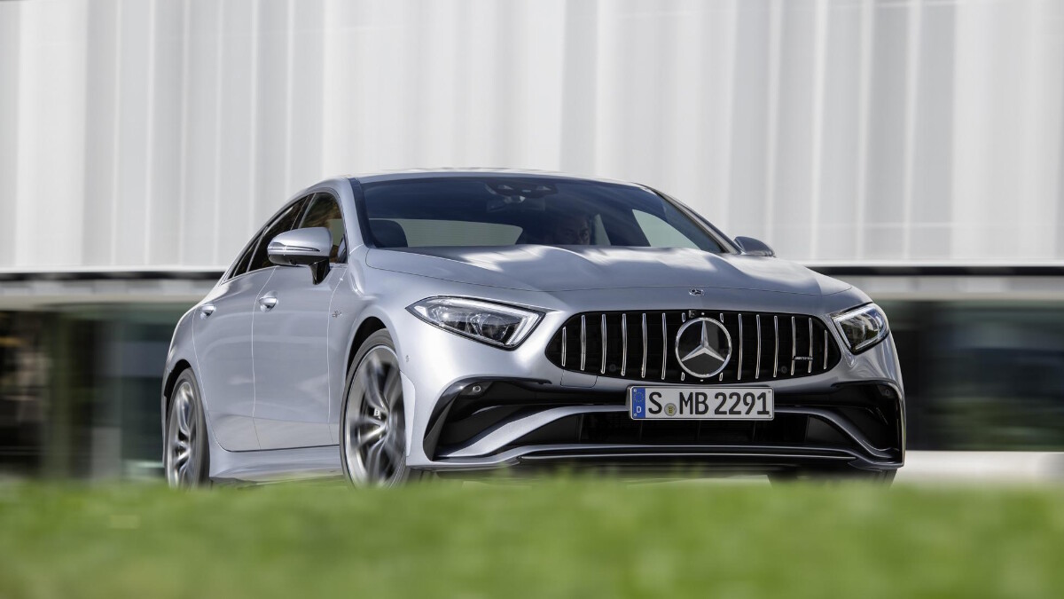 The 2022 Mercedes-Benz CLS Angled Front View