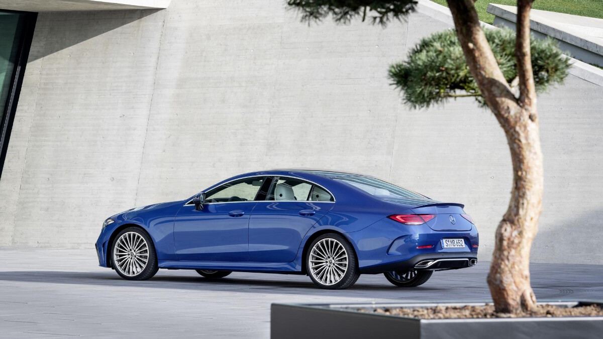 The 2022 Mercedes-Benz CLS in Blue