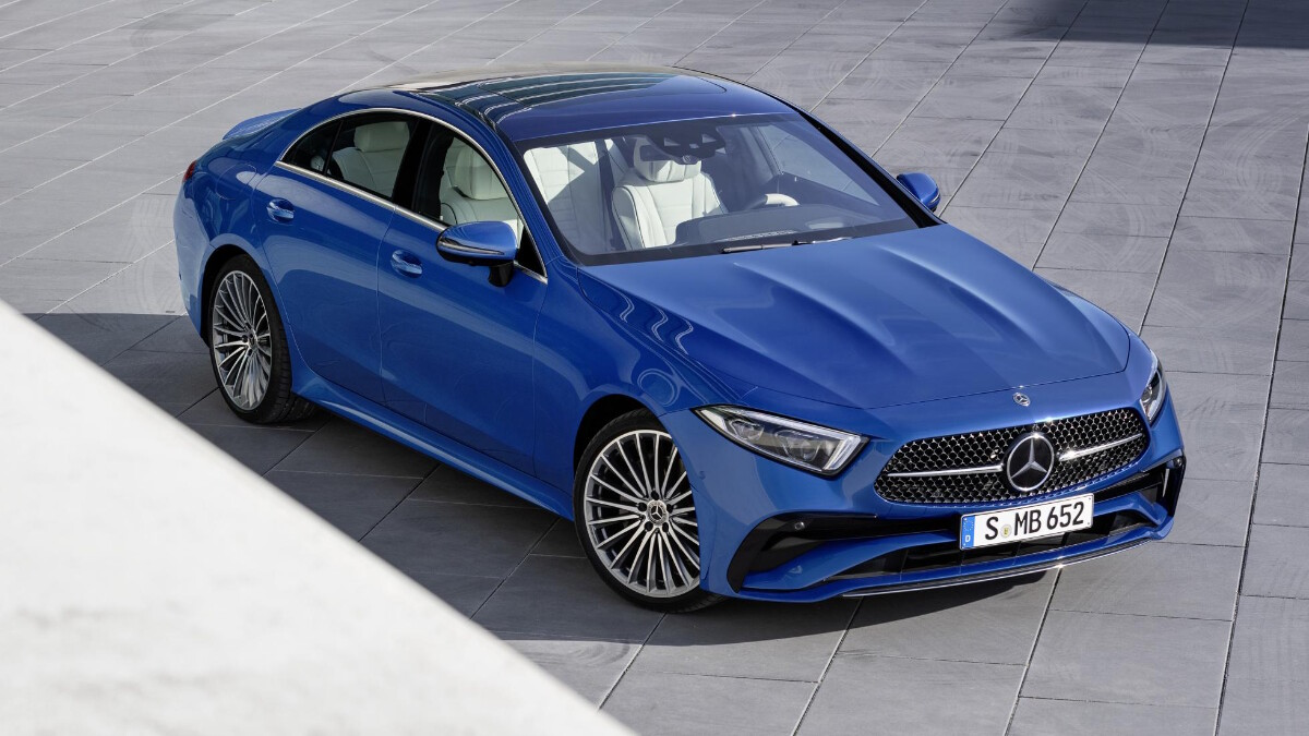 The 2022 Mercedes-Benz CLS Top Angled Front View