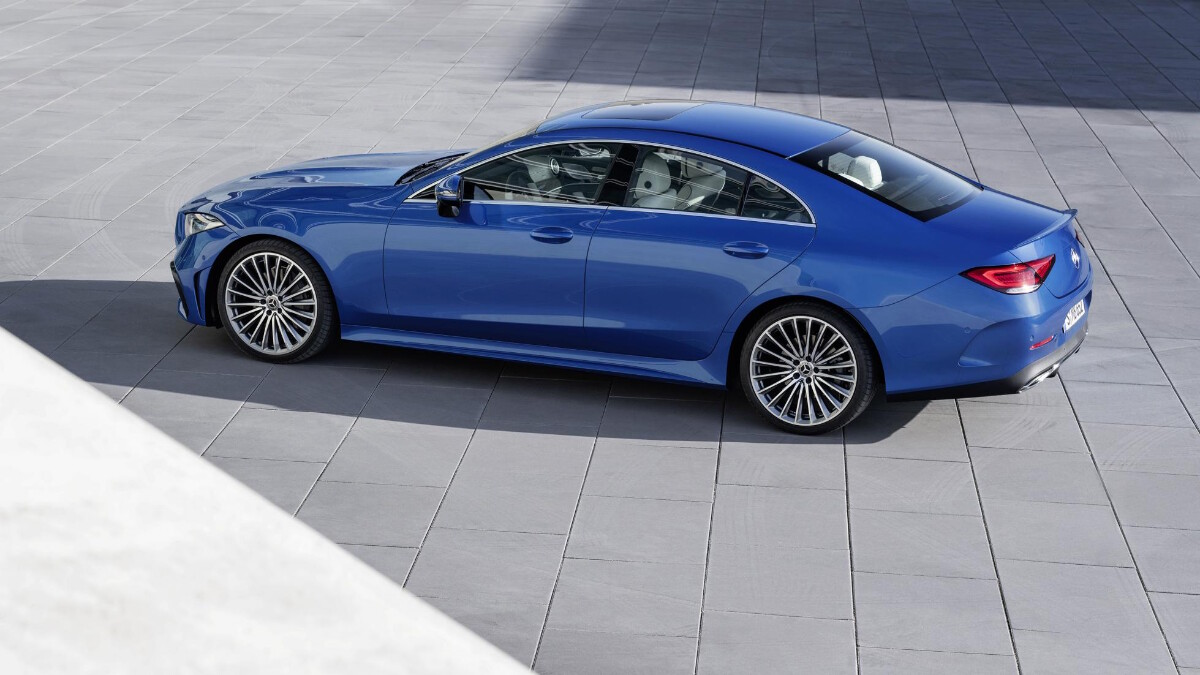 The 2022 Mercedes-Benz CLS Top Angled Profile