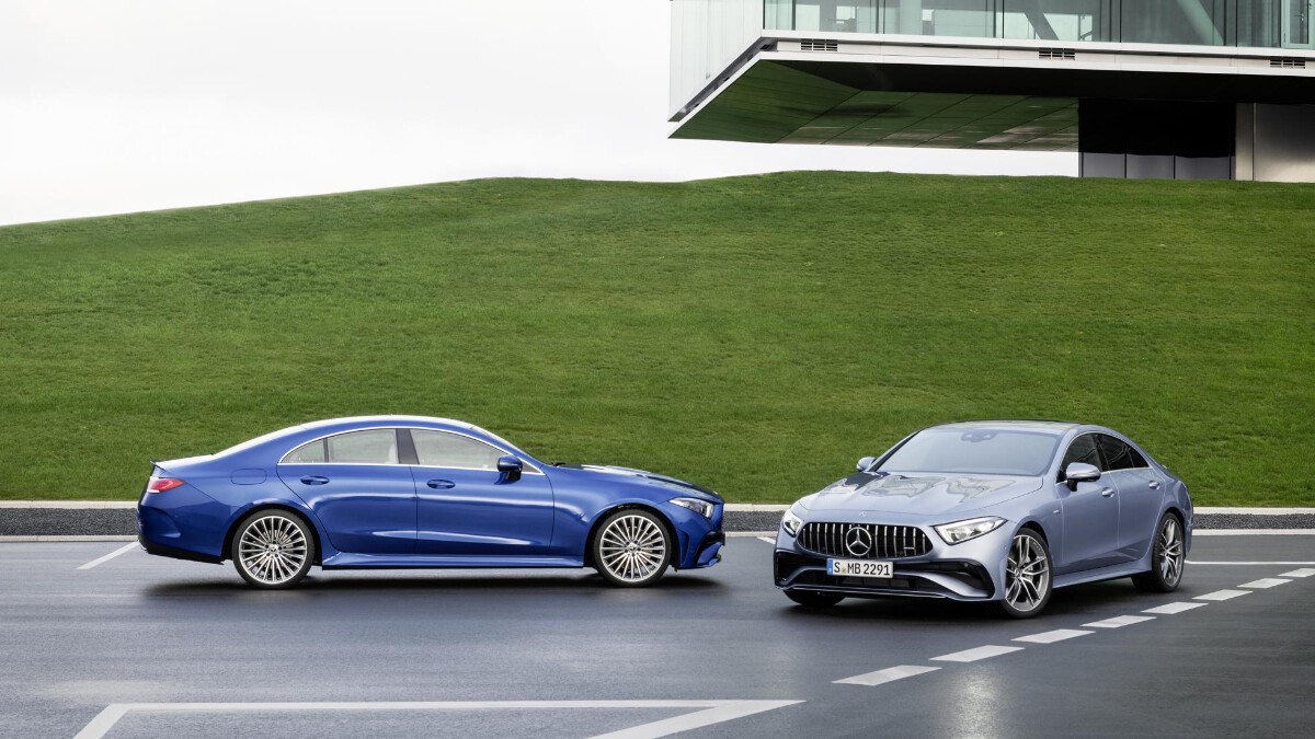 The 2022 Mercedes-Benz CLS in Blue and Gray