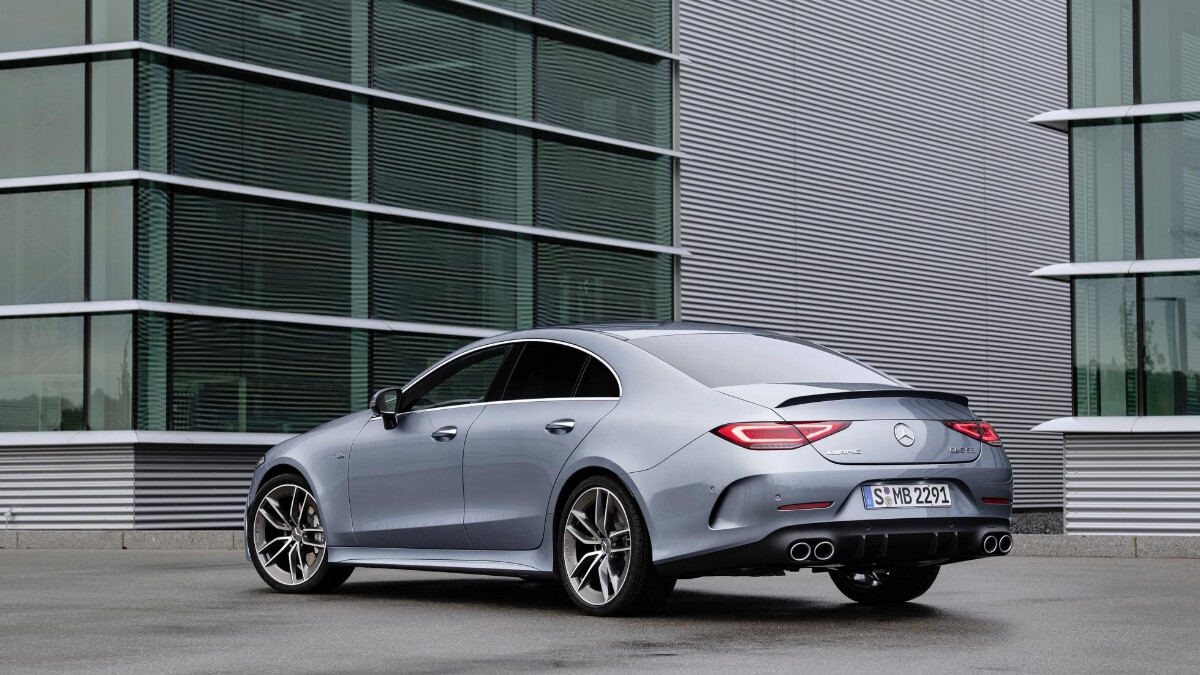 The 2022 Mercedes-Benz CLS Angled Rear View