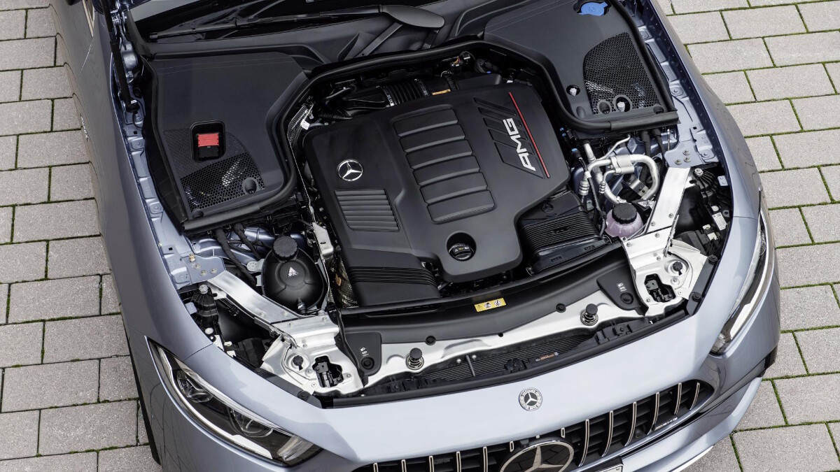 The 2022 Mercedes-Benz CLS Engine Top View