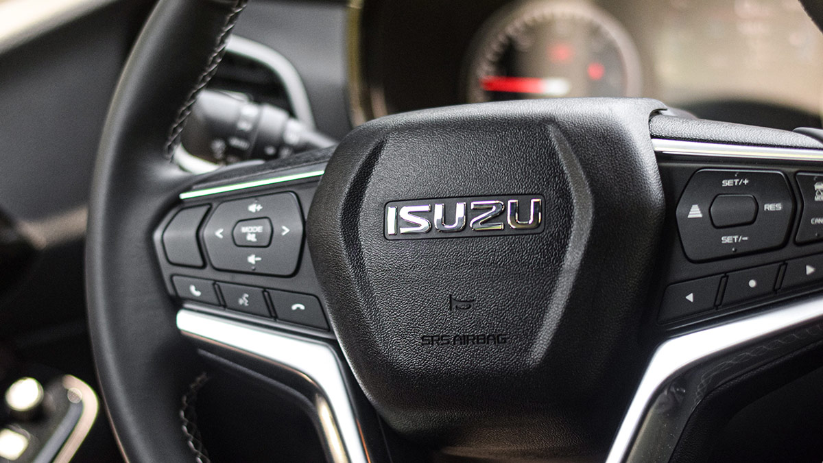 The 2021 Isuzu D-Max Steering Wheel Close Up